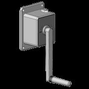 Staaldraadwindwerk met onderplaat