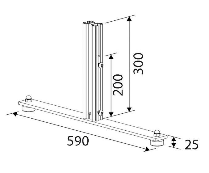 Voetplaat Basis V730-Biaritz windscherm